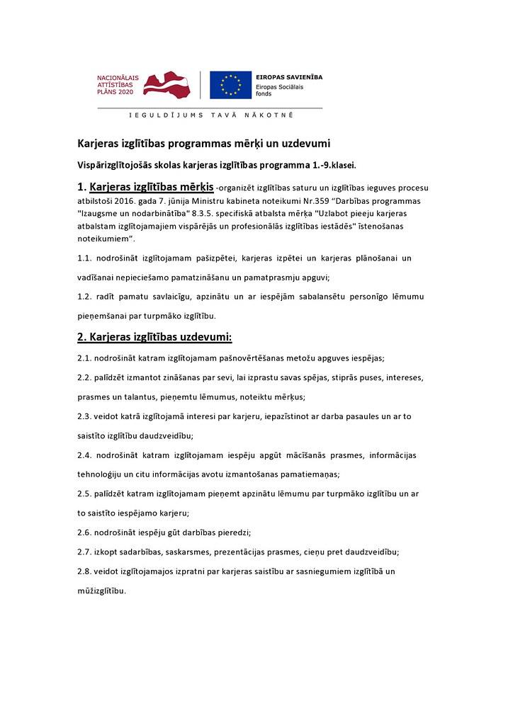 Karjeras izglītības programmas mērķi un uzdevumi-page0001