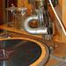 frühe Lichtorgel auf Plattenspieler mit Handbetrieb