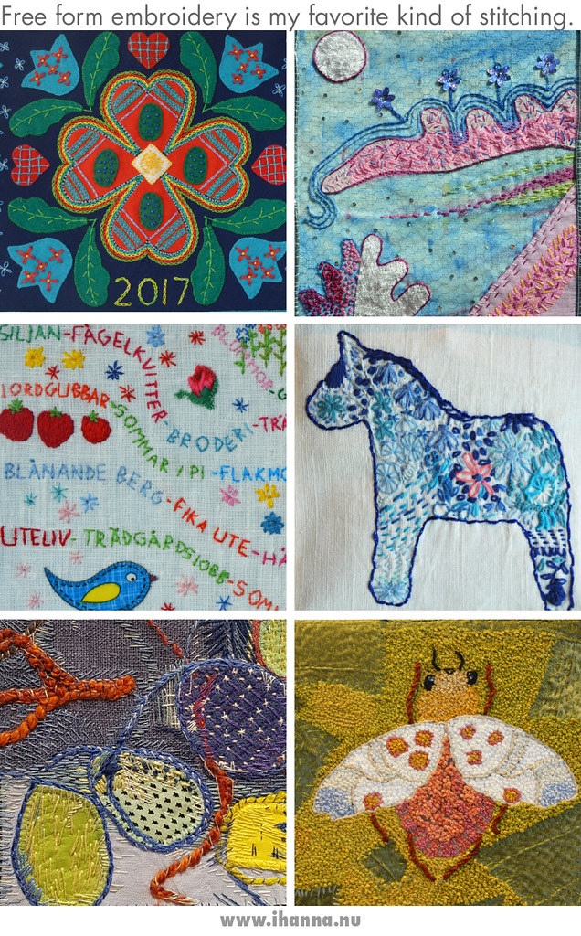 Fun and Free Embroidery from our Embroidery Exhibition - photos by Hanna Andersson aka iHanna