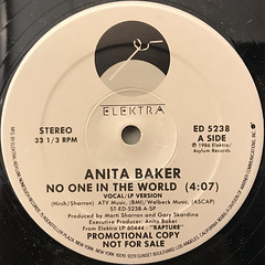 ANITA BAKER:NO ONE IN THE WORLD(LABEL SIDE-A)
