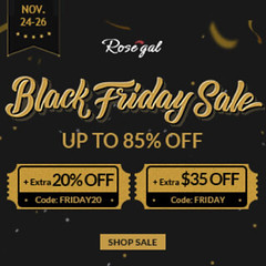 Rosegal Black Friday Sale Up To 85% OFF