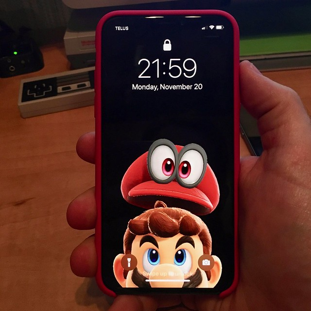 iPhone X, Mario and Cappy