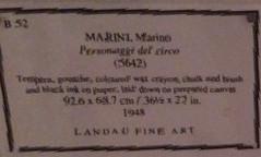 Marino Marini - Personaggi del Circo Label