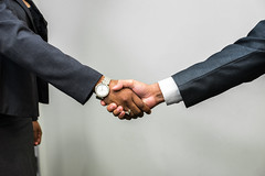Handshake - Man and Woman
