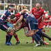 Samuel Jeffries of Bristol is tackled by Richard List and Morgan Eames-2860