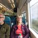 On a train!