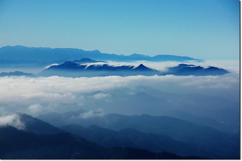 白毛山稜線展望點南向展望 1