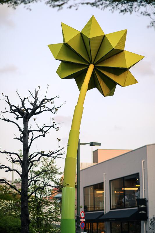 Daikanyama green flower sculpture