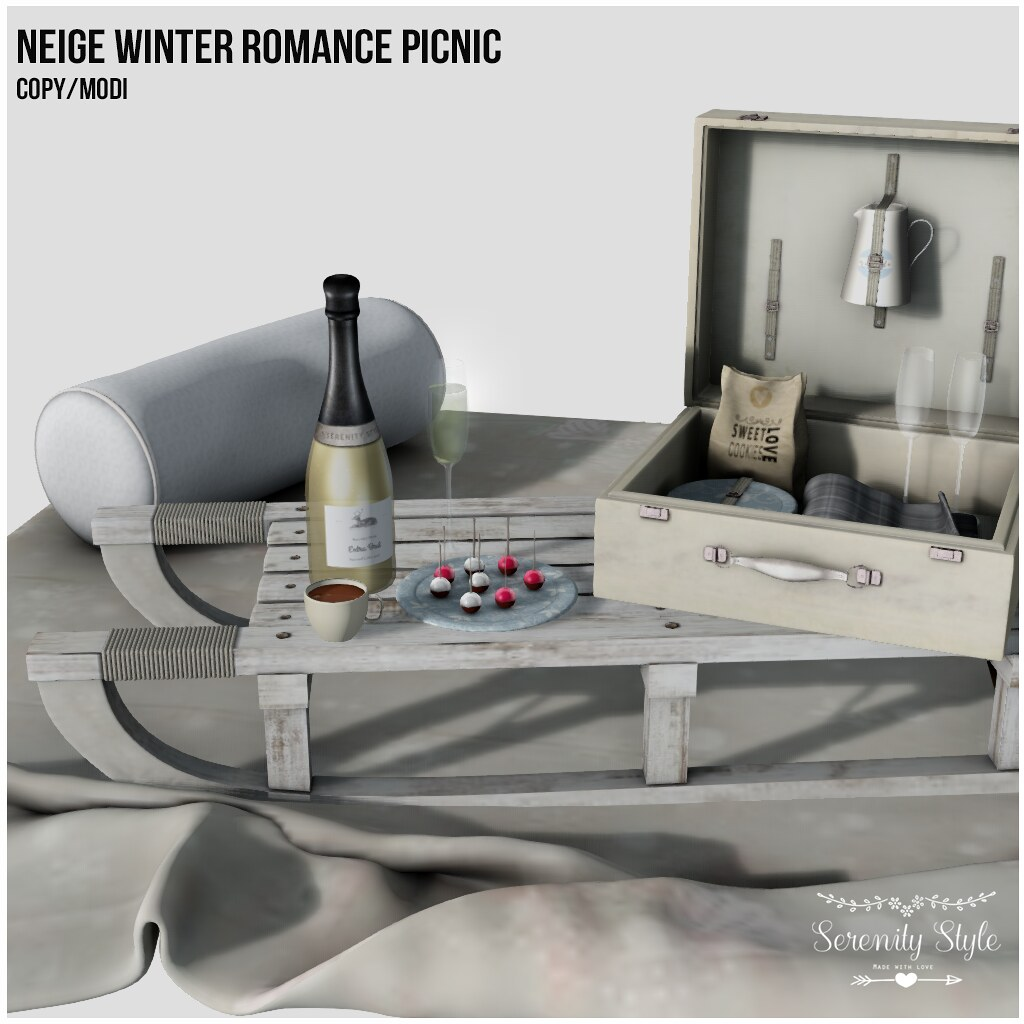 Serenity Style - Neige Winter Romance Picnic for Deco(c)rate - TeleportHub.com Live!