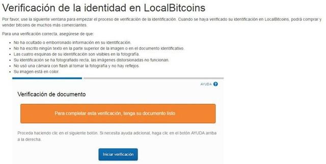 Verificación en LocalBitcoins