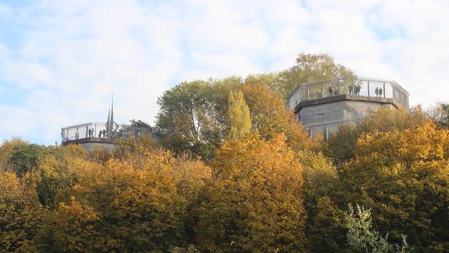Aussichtsplattformen auf dem Humboldtbunker