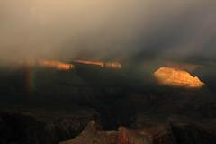Rainbow over the Grand canyon, Arizona