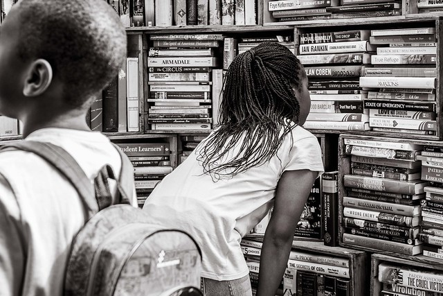 browsing at the book market
