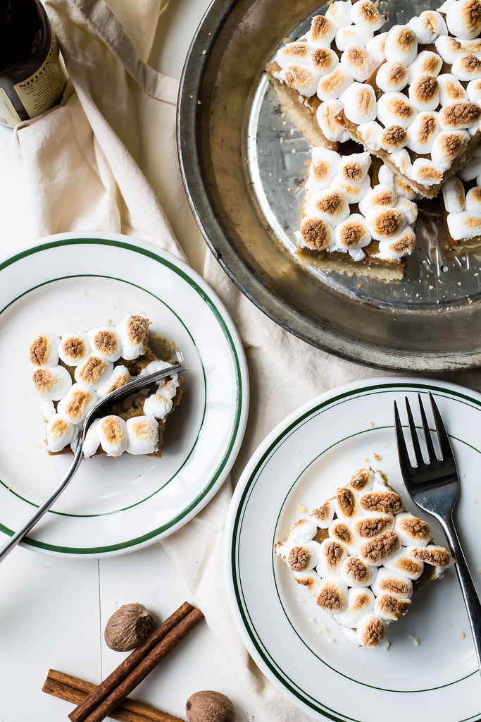 Sweet Potato Marshmallow Pie Bars