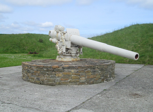 Fourth Gun, Lyness Naval Museum, Hoy, Orkney.