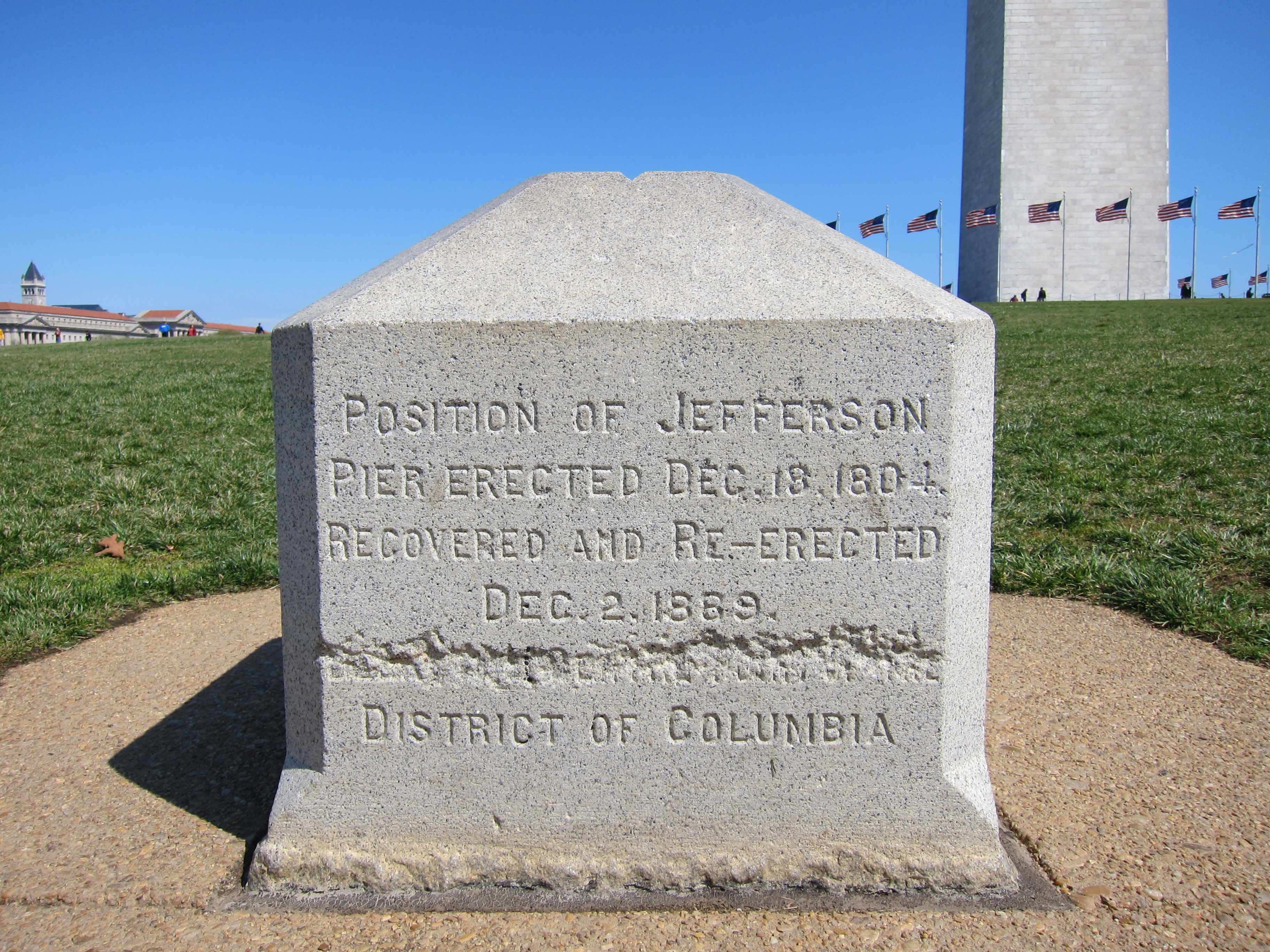 West side of Jefferson Pier with Washington Monument in background