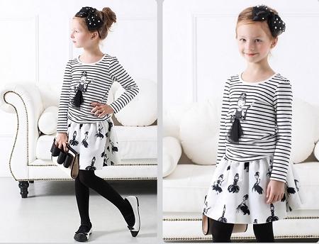 3 kiểu áo thun  bé gái đẹp mùa lạnh