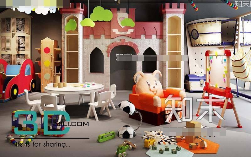 04  Childroom decorative set 04 Free Download - 3D Mili
