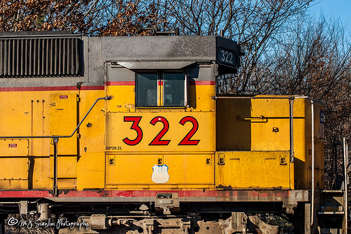 UP 322 | EMD GP38-2L | UP Helena Subdivision