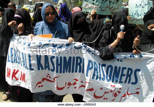 Protest in Srinagar against Interlocutor's Arrival