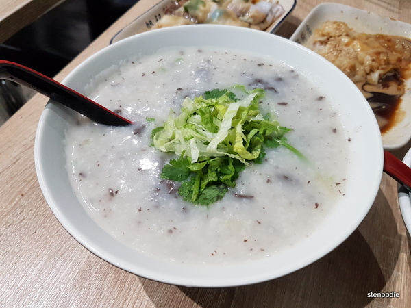 Pork Blood Jello Congee