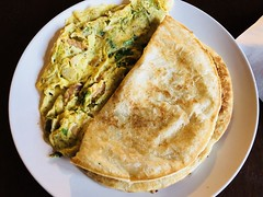 Omelette with Parathas