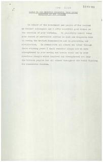 Birthday wishes to Winston Churchill, 1959
