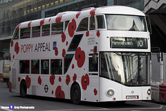 Wrightbus NRM NBFL - LTZ 1174 - LT174 - Poppy Appeal - Hammersmith 10 - RATP Group London United - London 2017 - Steven Gray - IMG_6025