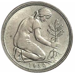 1950 German 50 Pfennig
