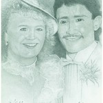KELLI & ALMONDO- WEDDING pencil I did, they gave me a pic that there heads were the size of my thumb! things to get around