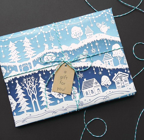 Papercut Holiday Cards - Snow Day by Sarah Trumbauer
