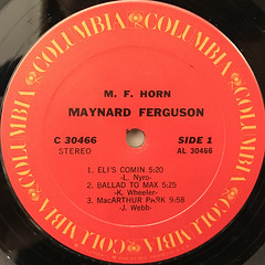 MAYNARD FERGUSON:M.F. HORN(LABEL SIDE-A)