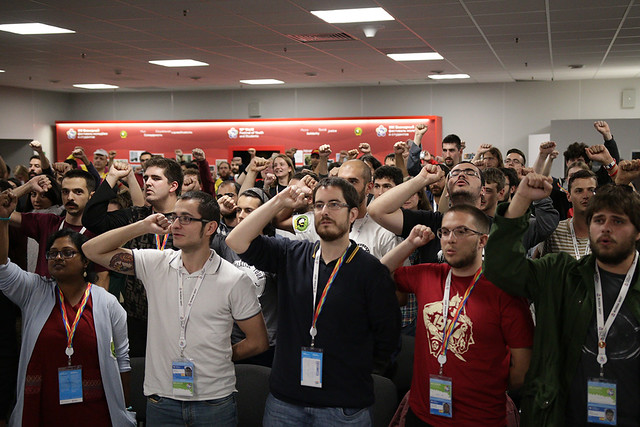 Press Release of the common activity of 36 Communist Youth Organisations in Russia dedicated to the 100 years of the October Socialist Revolution