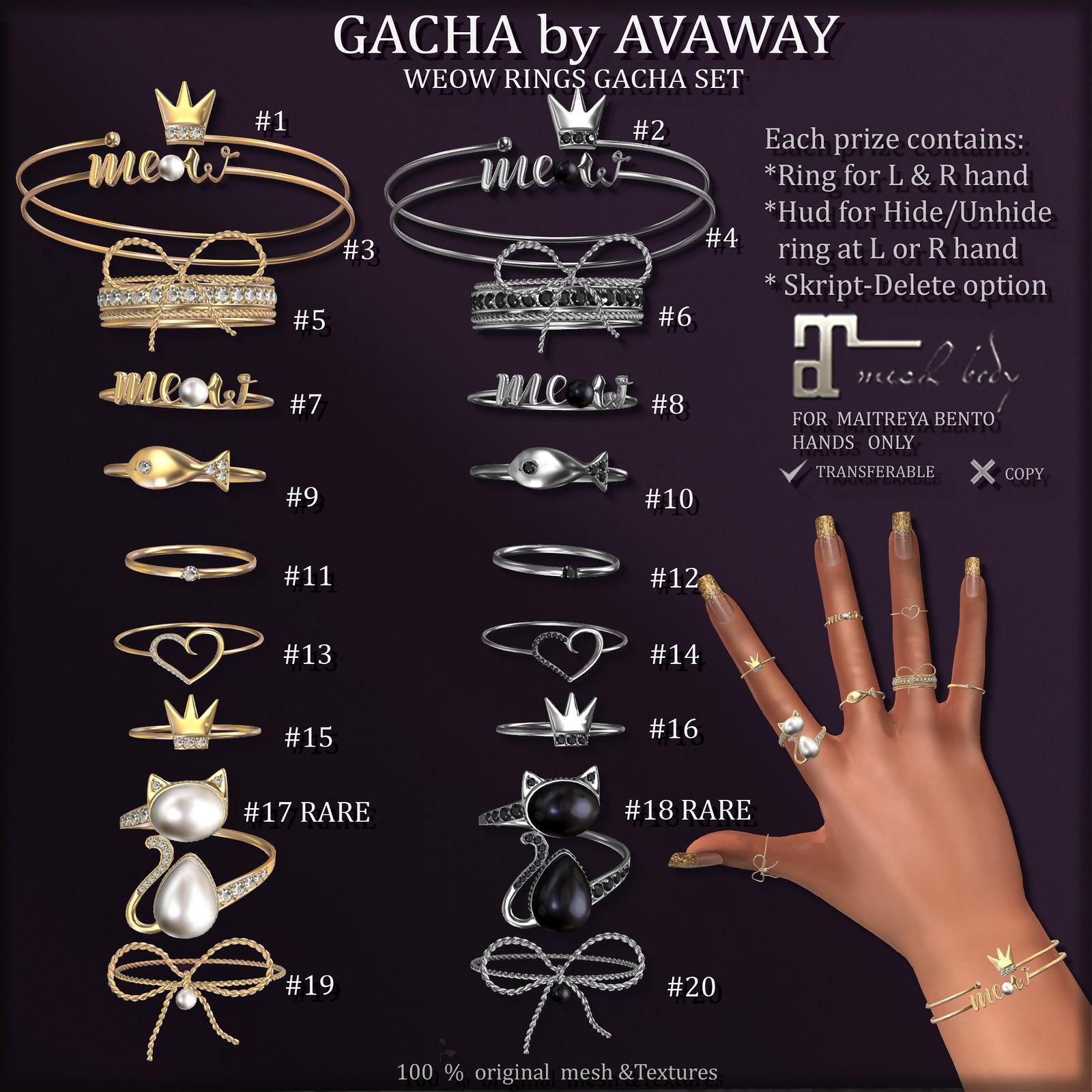 MEOW RINGS GACHA SET