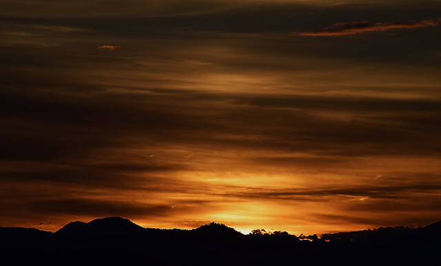 Sunset over Ljubljana