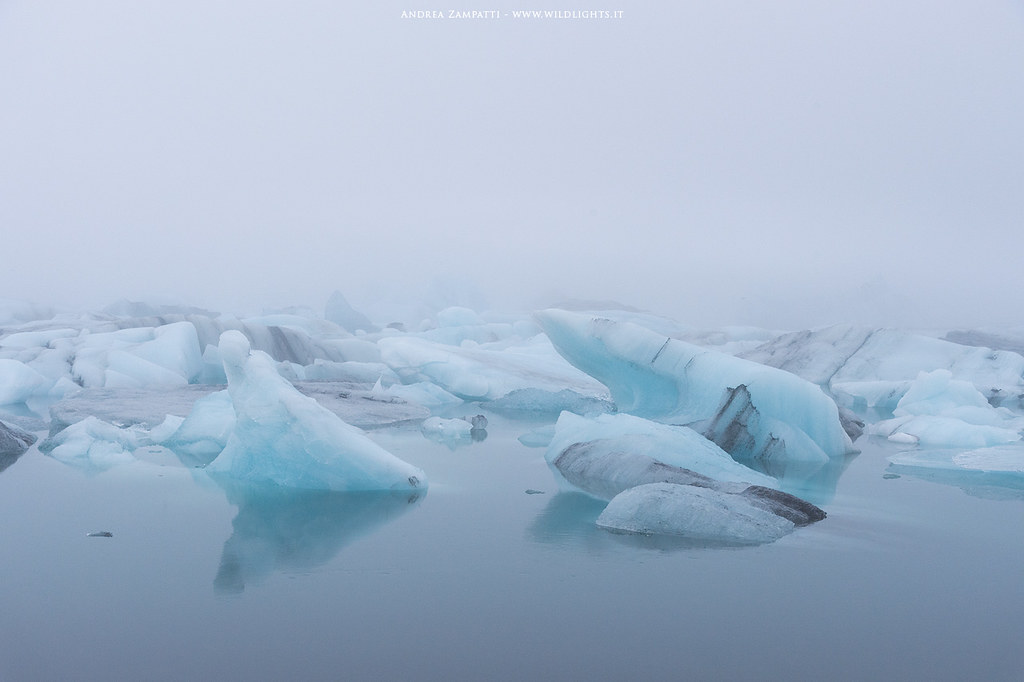 Jökulsárlón in the fog
