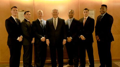 Secretary Tillerson Meets Marine Security Guards in Beijing