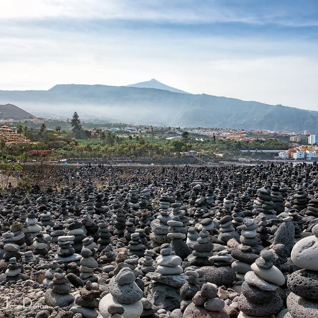 stacks and teide | playa jardin | puerto de la cruz