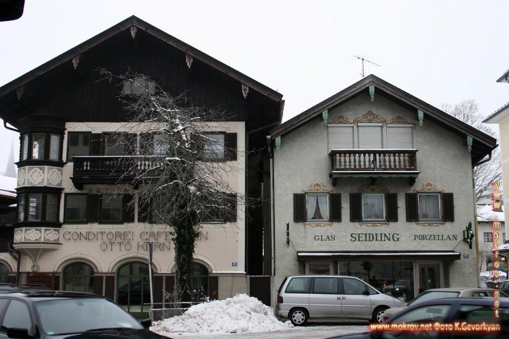 Мисбах — район в Германии с фотокамерой прогулки туристов