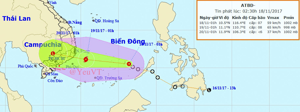 Tin bão khẩn cấp MỚI NHẤT ảnh hưởng trực tiếp đến Vũng Tàu