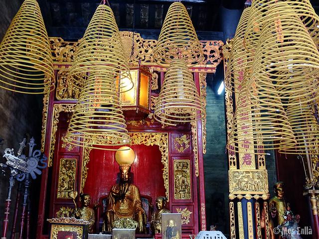 Espirales de incienso en Macao