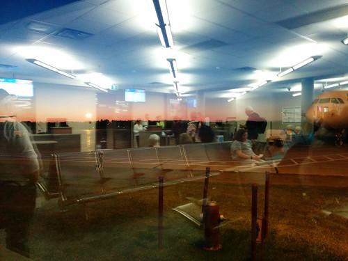 Mirrored in the window #pei #princeedwardisland #charlottetown #charlottetownairport #window #mirror #dawn #latergram