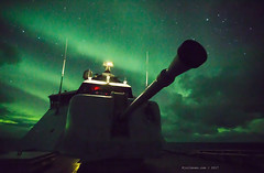 Aurora above the big gun