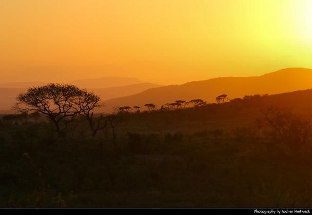 Sunset, Hluhluwe-iMfolozi National Park, South Africa