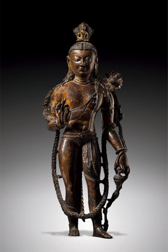 A bronze figure of Avalokiteshvara, Western Tibet, 10th century. Image courtesy of the collector