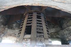 Sur le site des Usines Lambiotte (Prémery, Nièvre)-Intérieur des tours de séchage