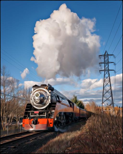 Holiday Express Steaming Along