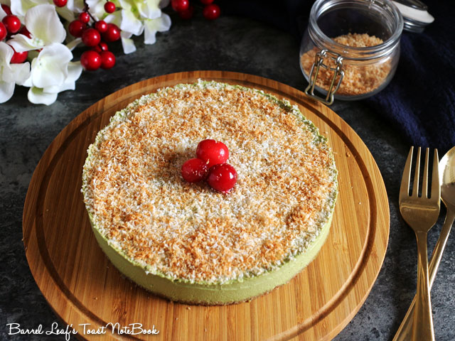 聖誕純素抹茶白巧慕斯蛋糕 xmas-matcha-white-chocolate-mousse-cake (3)