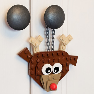 Flat Rudolph On Cabinet