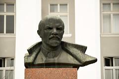 Lenin's bust in front of the House of Sovet, Tiraspol / Transnistria